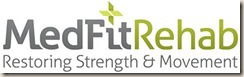 MedFitRehab Logo With Catch Phrase